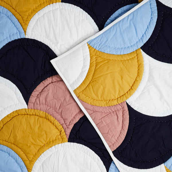 Handmade cotton quilted bedspread