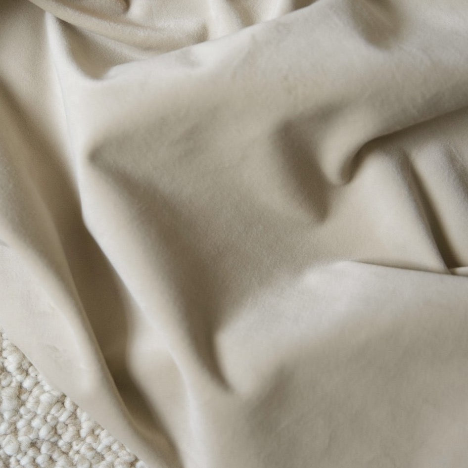 Curtain velvet fabric sample – Beige