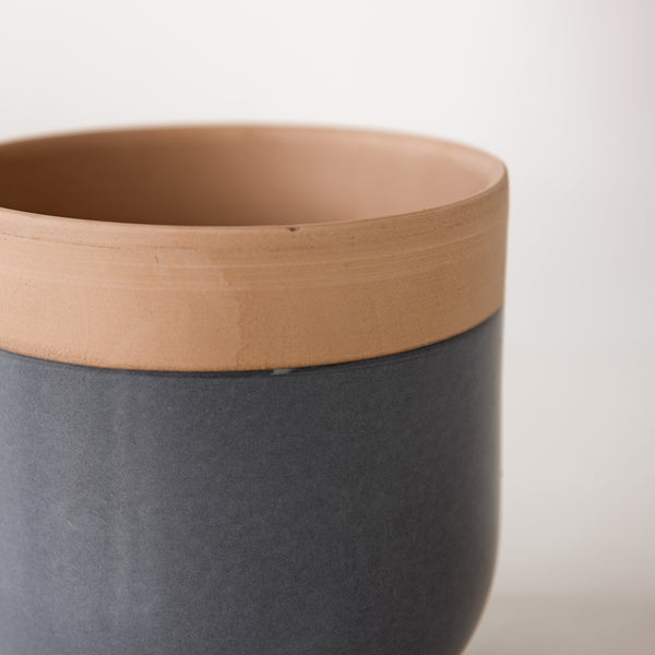 Glazed terracotta plant pot