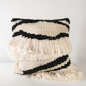 Large Textured wool cushion