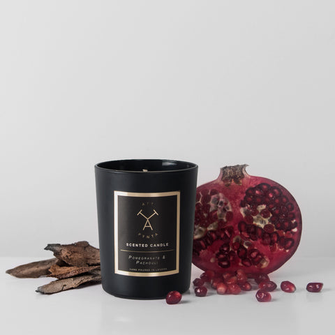 Pomegranate & Patchouli scented candle