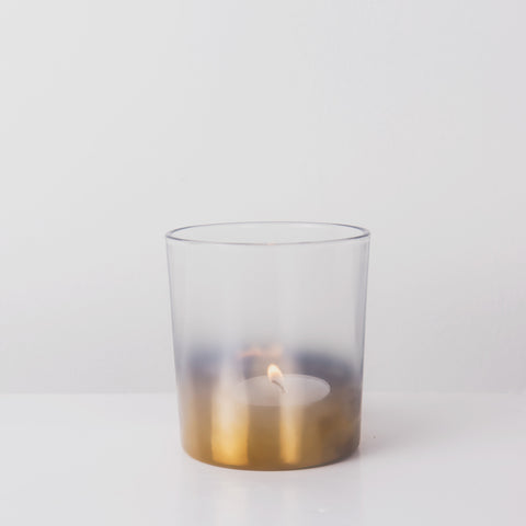 Dipped gold glass votive