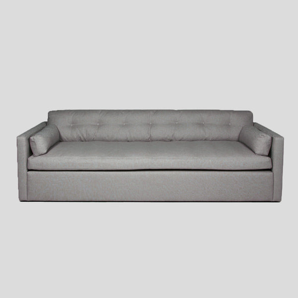 Dahlia medium grey 4 seat linen sofa