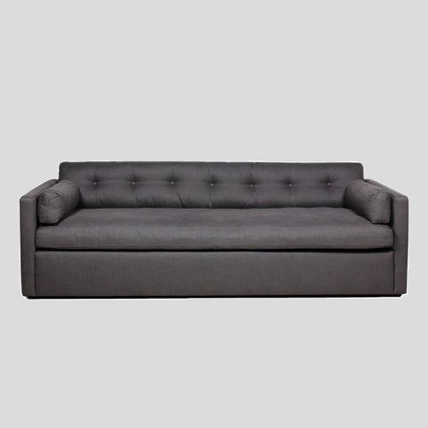 Dahlia dark grey 4 seat linen sofa