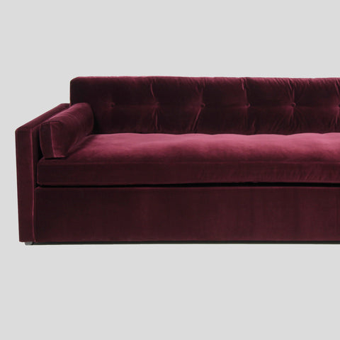 Dahlia Ruby red 4 seat velvet sofa