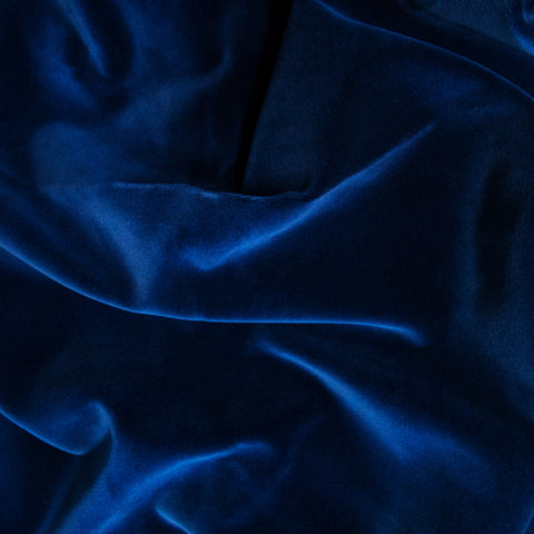 Deep Blue velvet fabric swatch