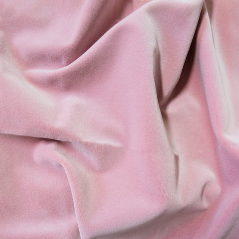 Dusty Pink velvet fabric swatch