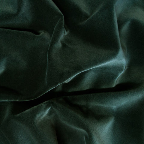 Emerald Green velvet fabric swatch