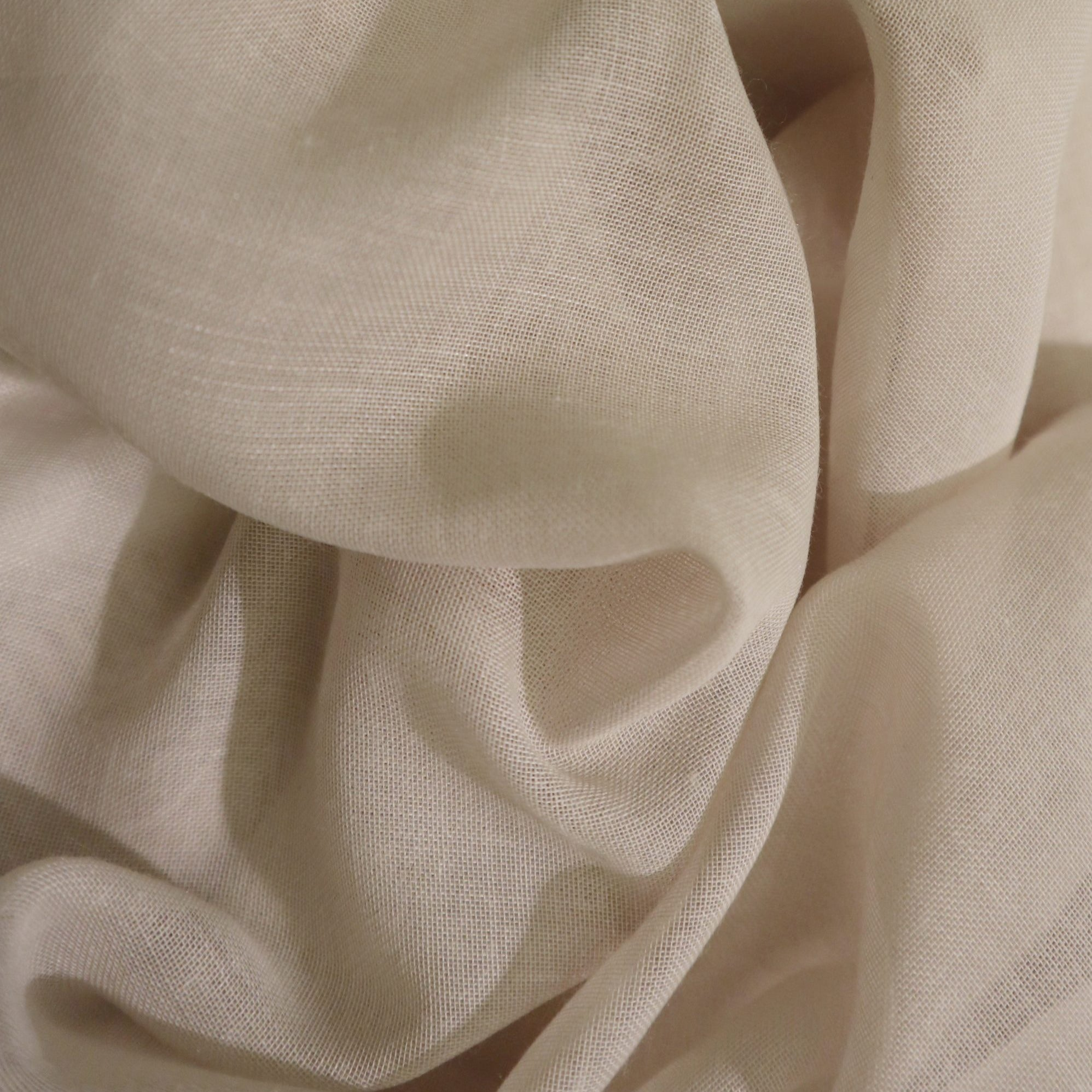 Curtain sheer voile fabric sample – Sand
