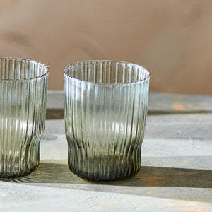 Fali ribbed tumbler - smoke