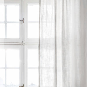 Gotain pure white linen curtain