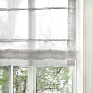 Gotain grey sheer linen roman blinds