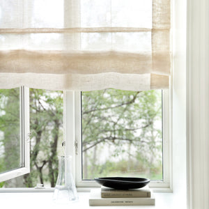 Gotain sand sheer linen roman blinds
