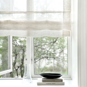 Gotain white sheer linen roman blinds