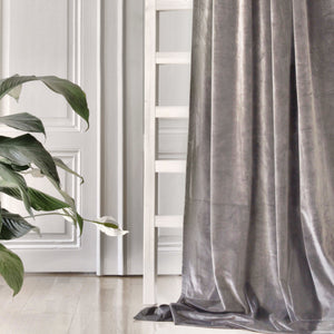 Gotain grey velvet curtain