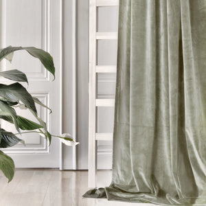 Gotain khaki green velvet curtain