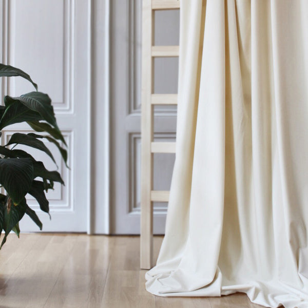 Gotain cream velvet curtain