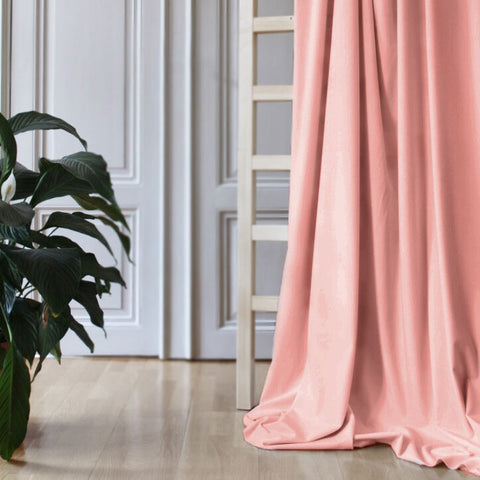Gotain dusty pink velvet curtain