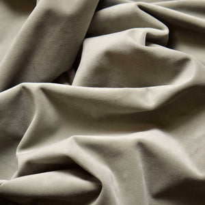 Curtain velvet fabric sample – Khaki Green