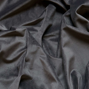 Curtain velvet fabric sample – Dark Grey