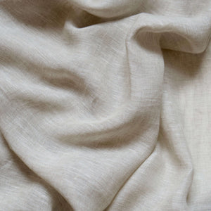Curtain sheer linen fabric sample – Sand
