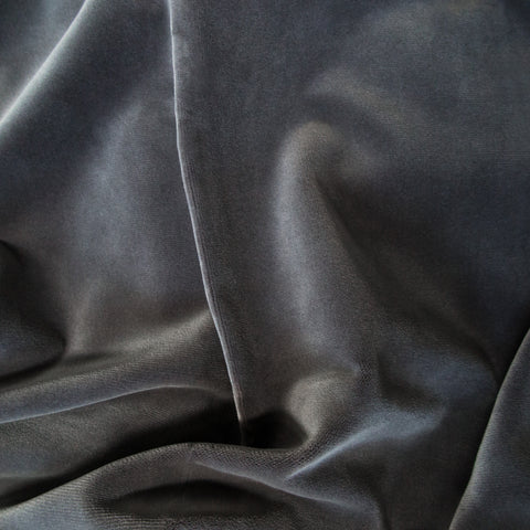 Greige velvet fabric swatch