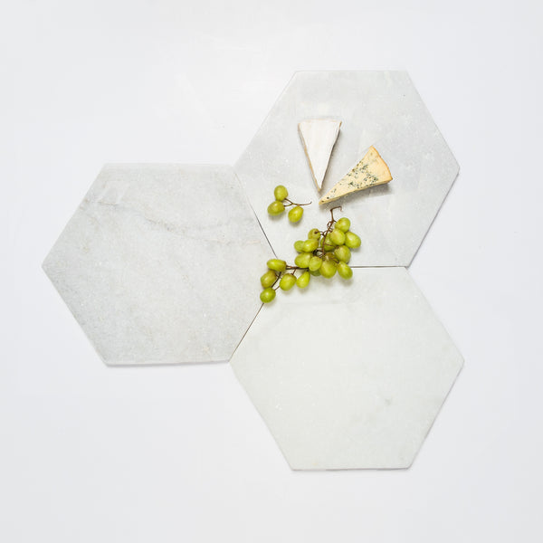Large Hexagon Marble tray