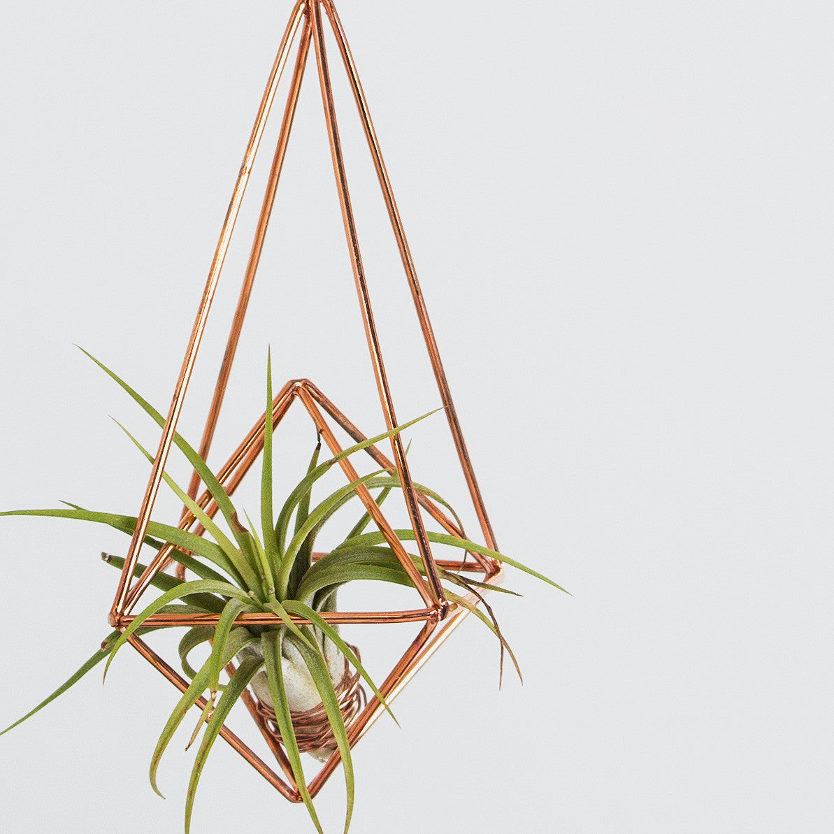 Geometric copper hanging decoration