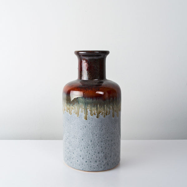 Stoneware bottle glazed vase