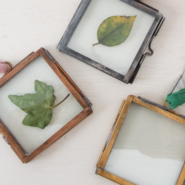 Mini frames in copper, brass & zinc