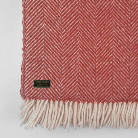 Fishbone wool Throw