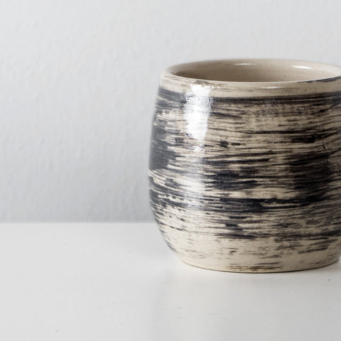 Handmade Charcoal ceramic espresso cup By SkandiHus (Only 1 left)