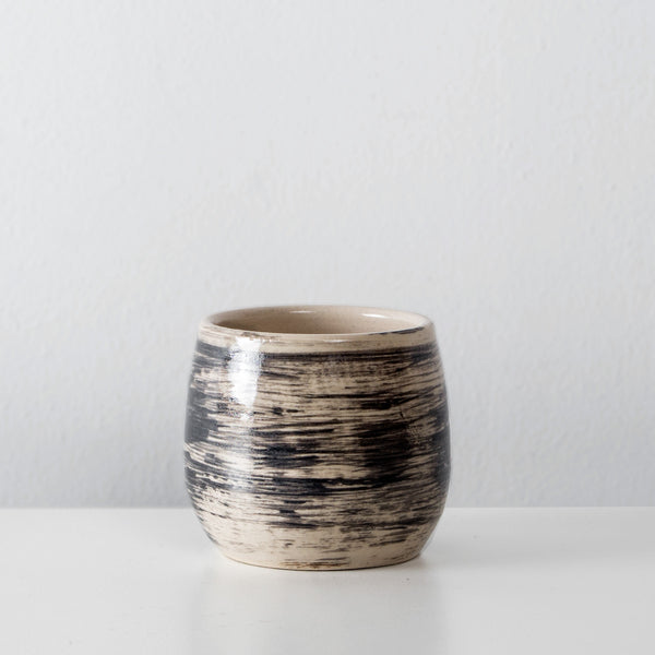 Handmade Charcoal ceramic espresso cup By SkandiHus
