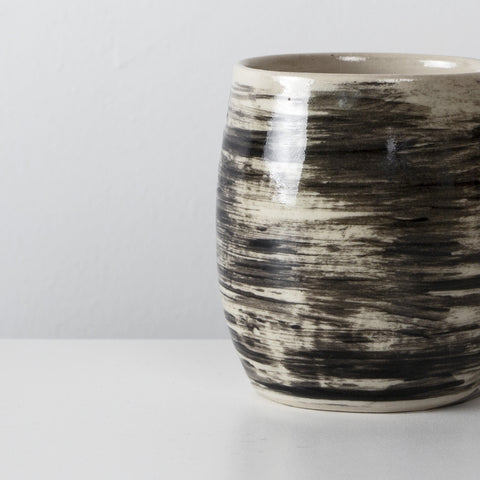 Handmade Charcoal ceramic coffee cup By SkandiHus