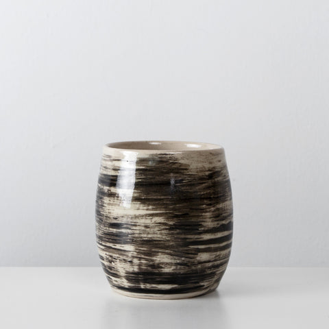 Handmade Charcoal ceramic coffee cup By SkandiHus (Last 2 is stock)