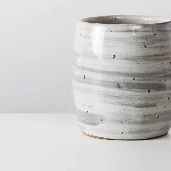 Handmade Grey ceramic coffee cup By SkandiHus