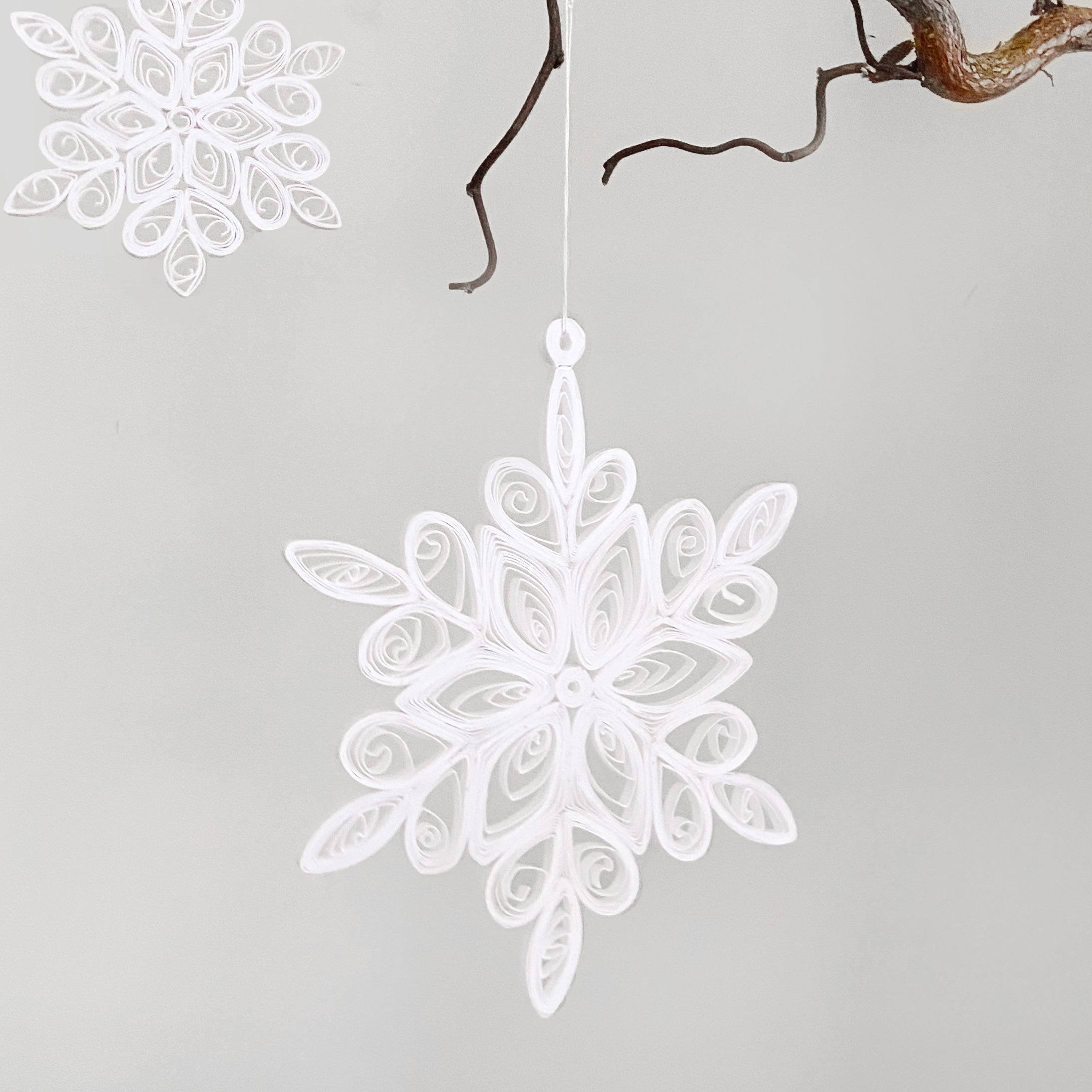 White Snowflake Ornament