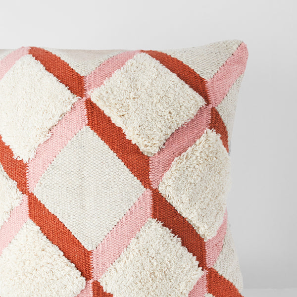 Handmade Square dhurrie textured Cushion