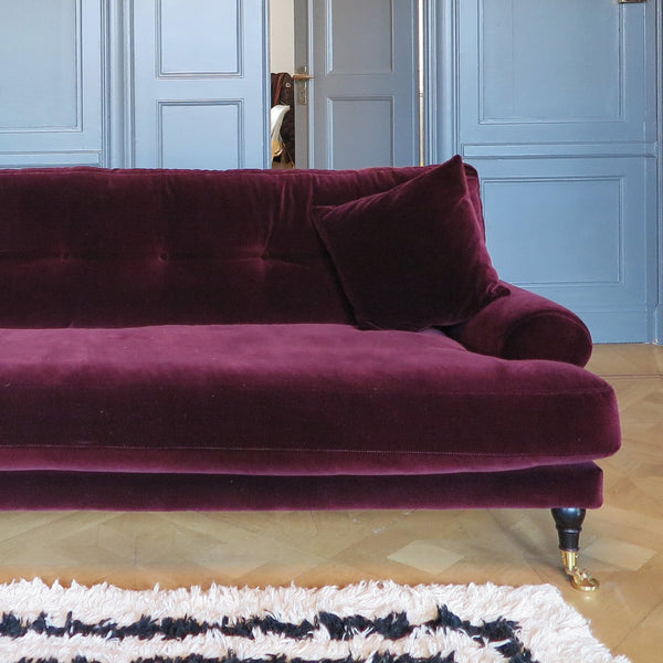 Blanca Ruby red velvet sofa