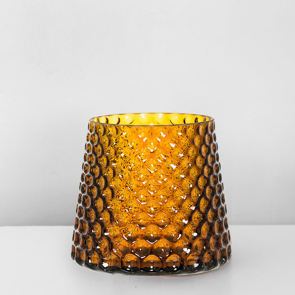 Amber Glass structure vase