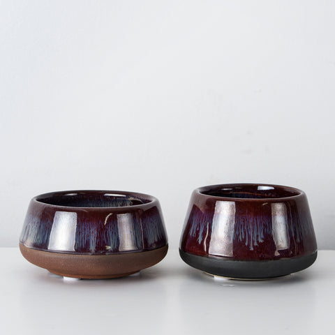 Glazed stoneware votives