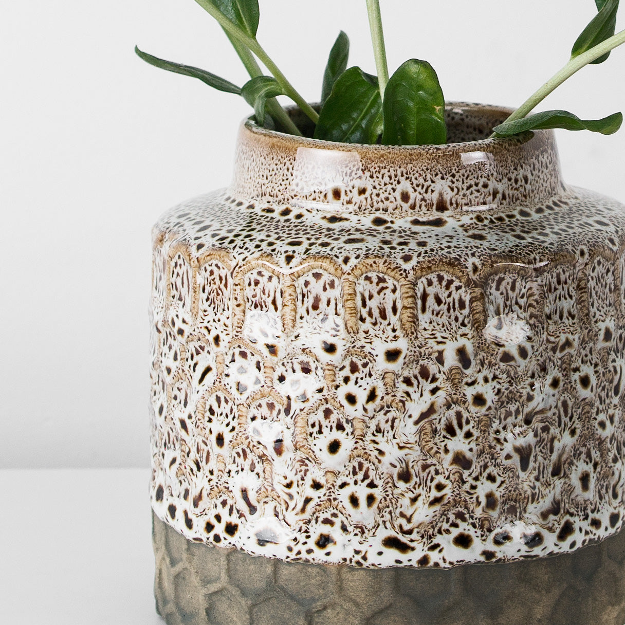 Stoneware decorative vase
