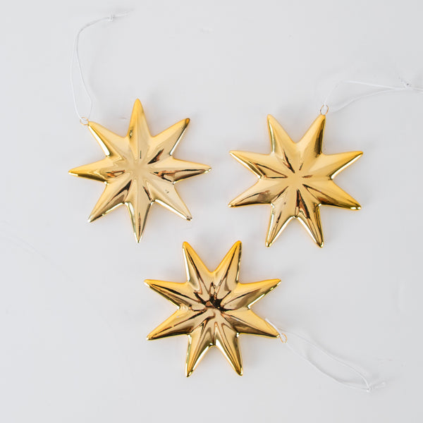 Gold glazed hanging Star decoration