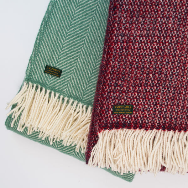 Fishbone Wool Throw - Att Pynta