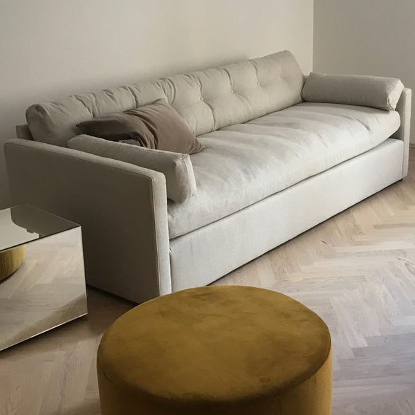 Dahlia off white 4 seat linen sofa