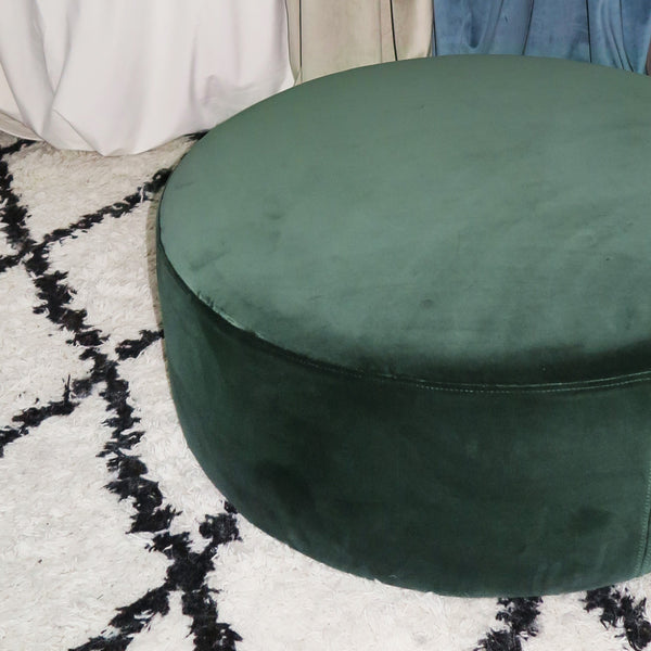 Ex-display Blanca Emerald green velvet ottoman