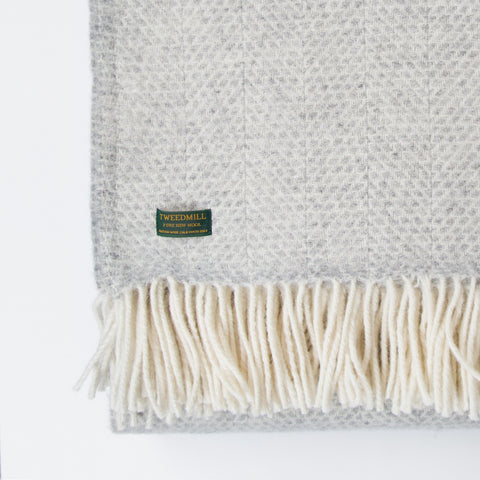 Beehive Grey New Wool Throw