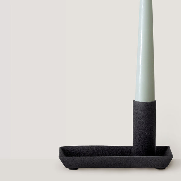 Joha black metal candlestick holder
