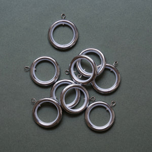 Curtain rings in chrome - Pack of 10