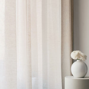 Curtain fabric sample – sheer linen